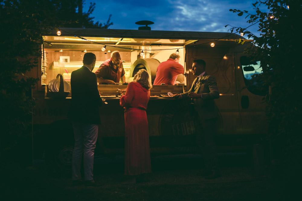 Food Truck Van Kingshill Barn Wedding Sandra Reddin Photography