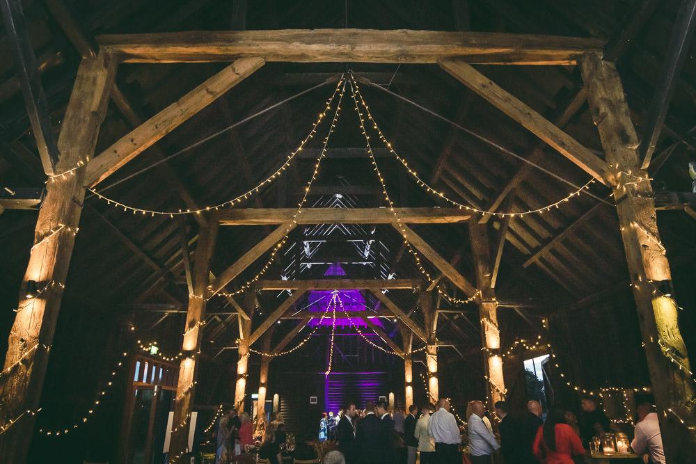 Fairy Light Canopy Kingshill Barn Wedding Sandra Reddin Photography