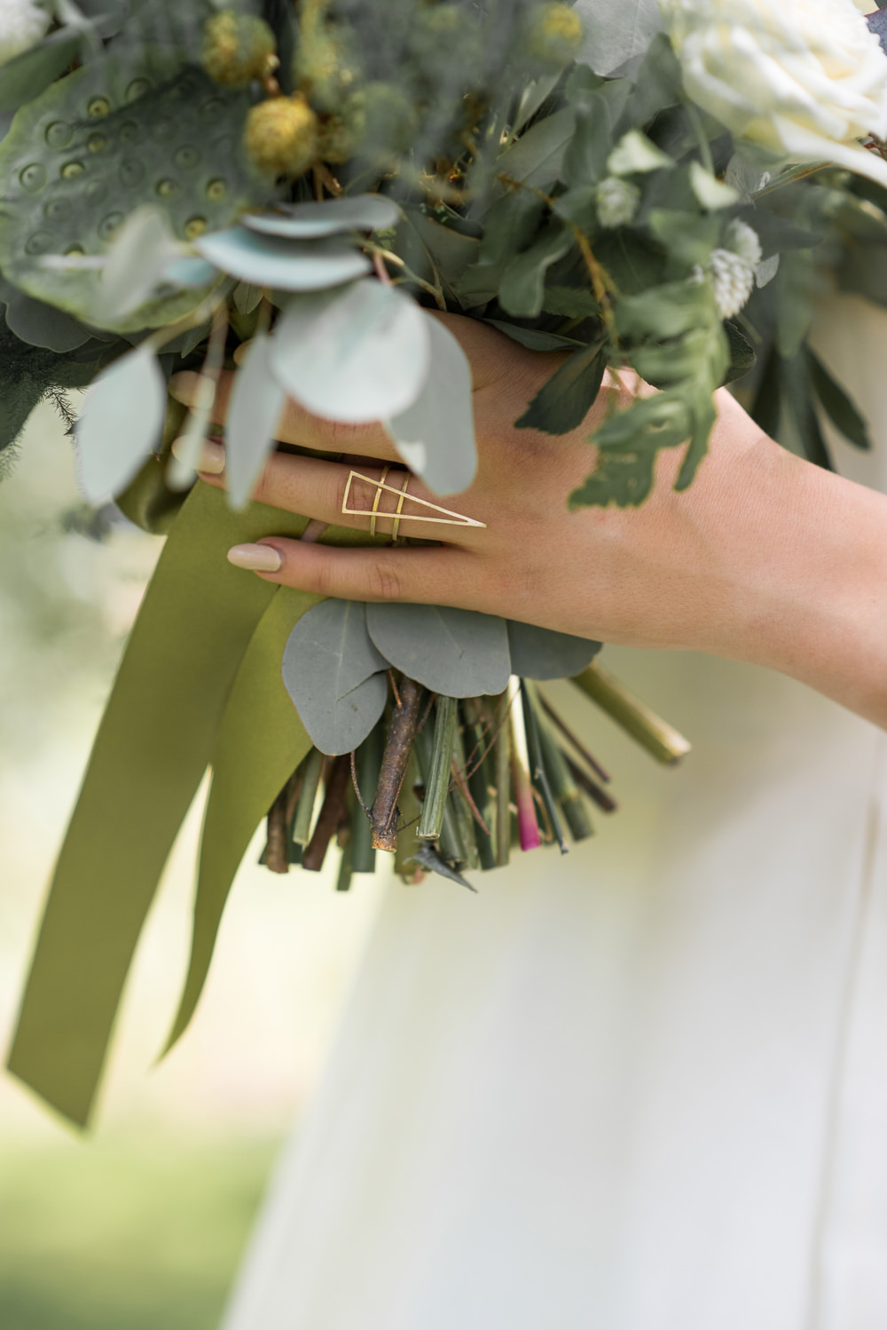 Geometric Gold Ring Minimalist Wedding Ideas Nicola Belson Photography