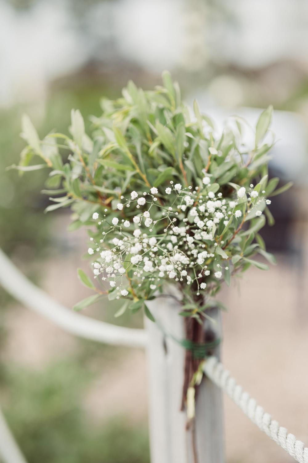 Greenery Pew End Aisle Ceremony Decor Flowers Norway Wedding Maximilian Photography