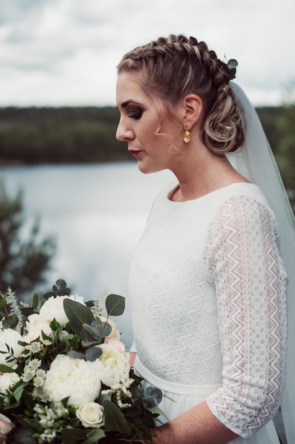 Bride Bridal Make Up Hair Style Up Do Plait Braid Norway Wedding Maximilian Photography