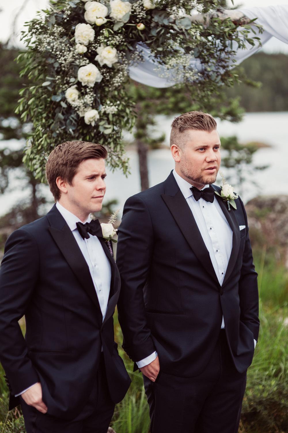 Groom Suit Tux Bow Tie Groomsmen Norway Wedding Maximilian Photography
