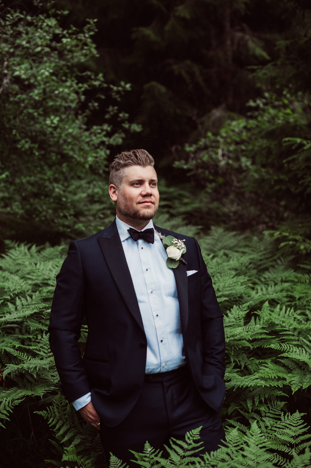 Groom Suit Tux Bow Tie Norway Wedding Maximilian Photography