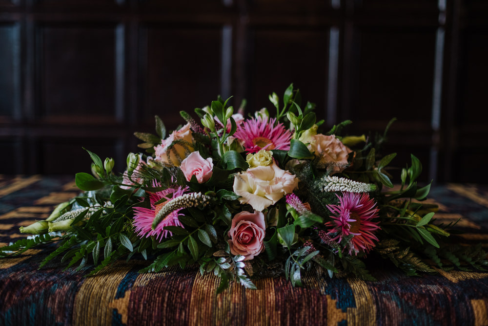 Flowers Floral Greenery Rose Oakwell Hall Wedding Jenna Kathleen Photographer
