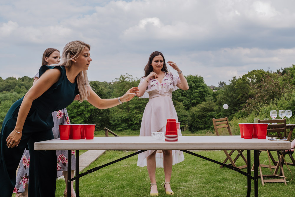 Beer Pong Oakwell Hall Wedding Jenna Kathleen Photographer