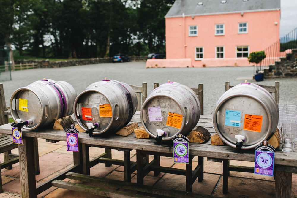 Barrels Drinks Bar Stand Station Outbuildings Wedding Jessica O'Shaughnessy Photography