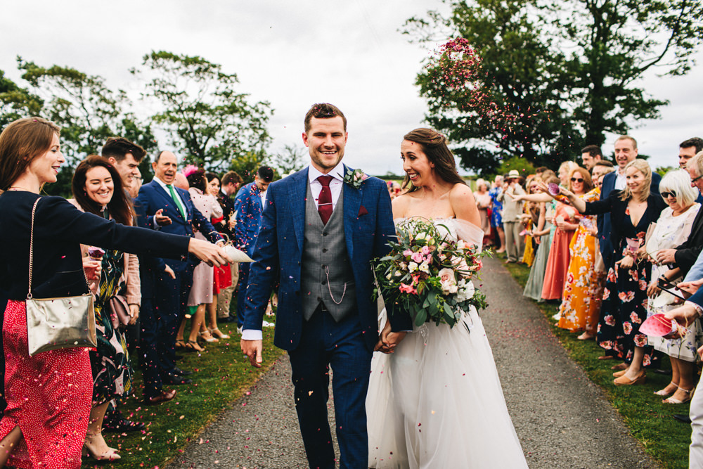 Confetti Throw Outbuildings Wedding Jessica O'Shaughnessy Photography