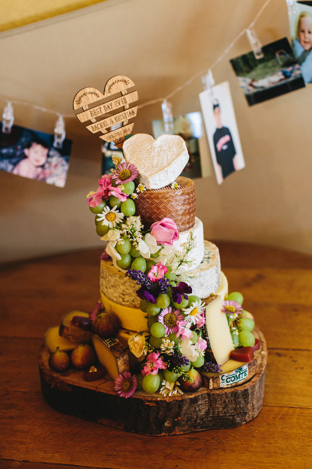 Cheese Tower Stack Cake Outbuildings Wedding Jessica O'Shaughnessy Photography