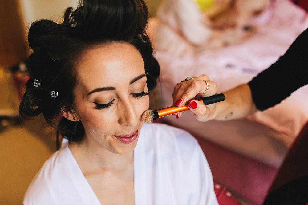 Bride Bridal Make Up Outbuildings Wedding Jessica O'Shaughnessy Photography