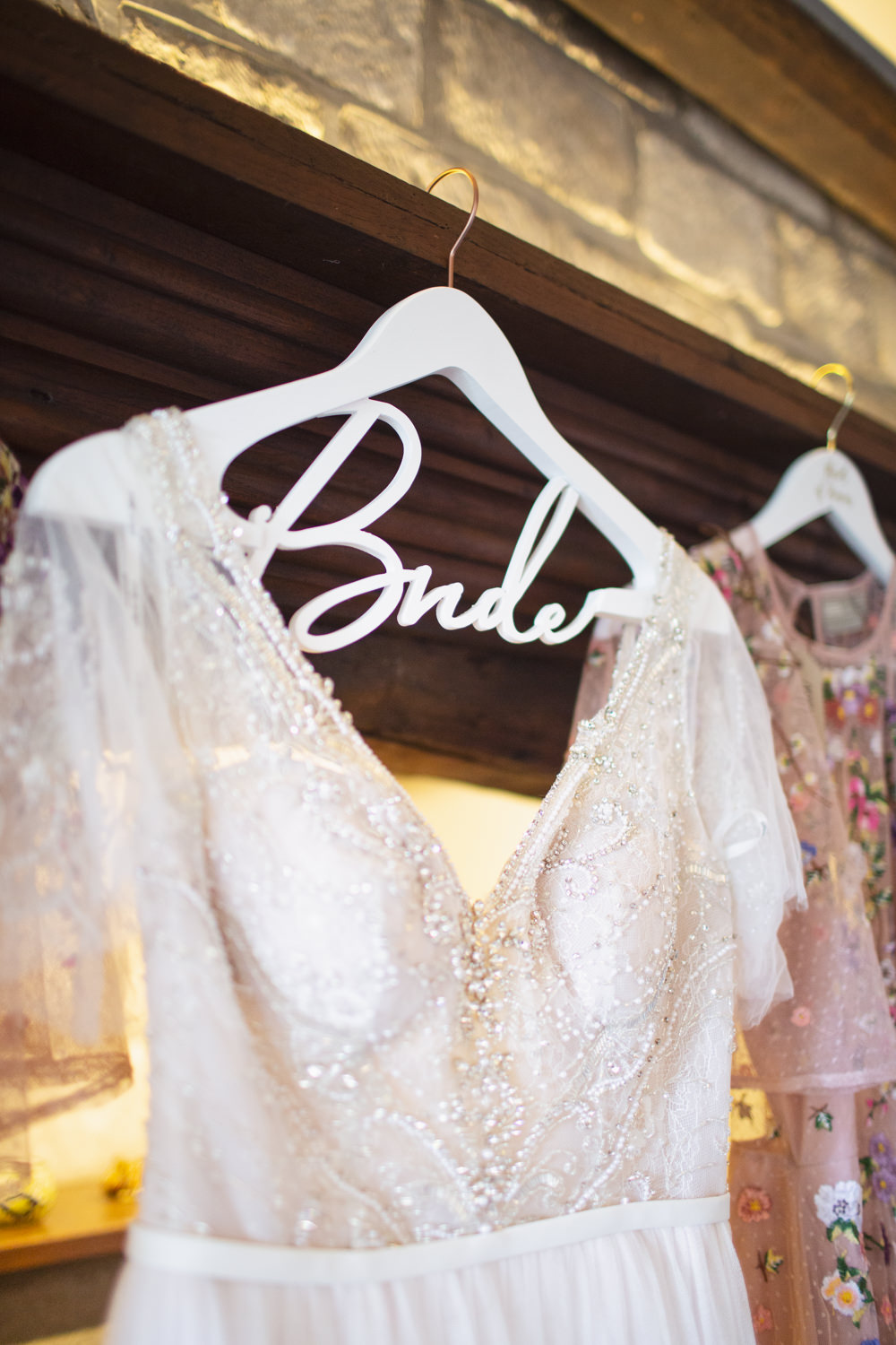 Bride Bridal Dress Gown Hanger Personalised Railway Station Wedding Cotton Candy Weddings
