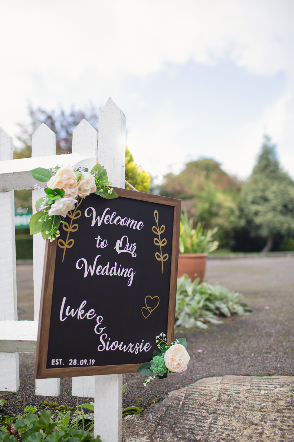 Welcome Sign Signs Signage Chalk Board Railway Station Wedding Cotton Candy Weddings