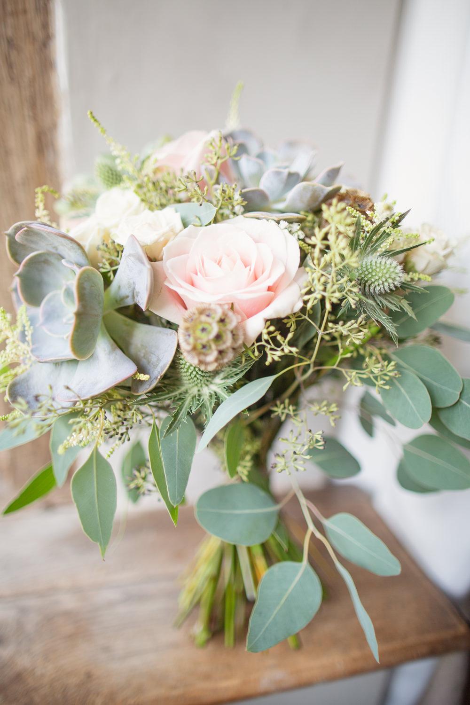 Bouquet Flowers Bride Bridal Pink Rose Eucalyptus Succulent Railway Station Wedding Cotton Candy Weddings