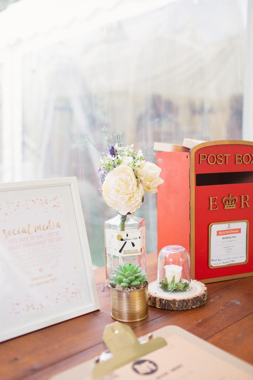 Card Post Box Railway Station Wedding Cotton Candy Weddings