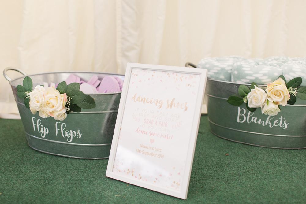 Bath Tin Blankets Flip Flops Railway Station Wedding Cotton Candy Weddings