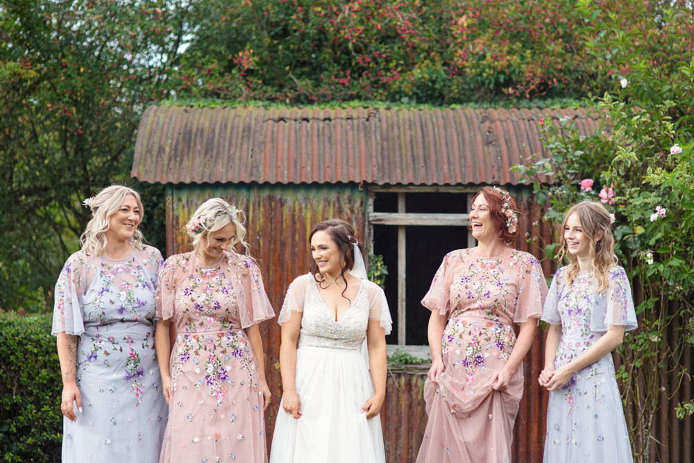 Bridesmaid Dress Bridesmaids Dresses Pink Lilac Floral Embroidered Railway Station Wedding Cotton Candy Weddings
