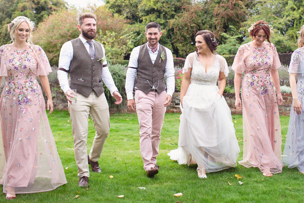 Groom Suit Tweed Waistcoat Pink Trousers Chinos Cravat Railway Station Wedding Cotton Candy Weddings