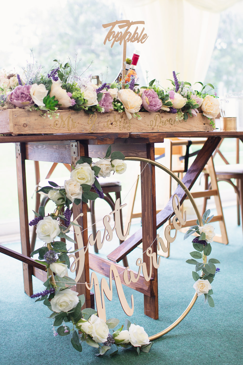 Laser Cut Hoop Sign Sings Signage Top Table Flowers Railway Station Wedding Cotton Candy Weddings
