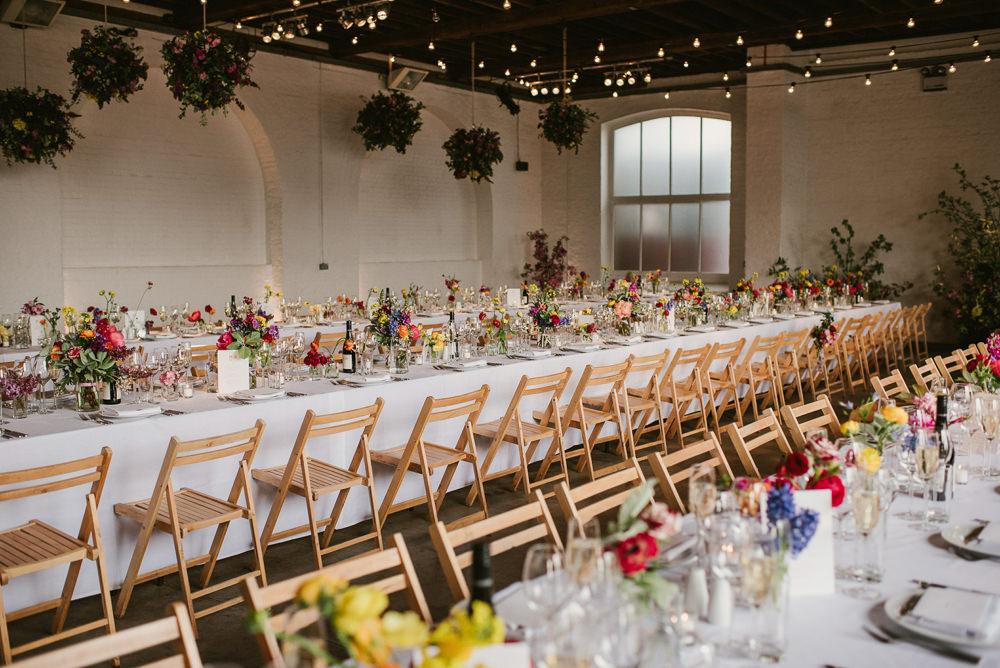 Long Tables Decor Flowers Floral Riverside London Wedding Ellie Gillard Photography