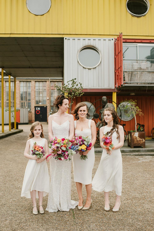 Bridesmaids Bridesmaid Dress Dresses White Riverside London Wedding Ellie Gillard Photography