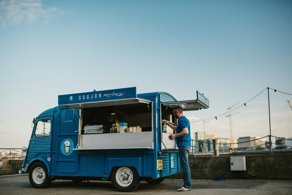 Food Truck Van Riverside London Wedding Ellie Gillard Photography