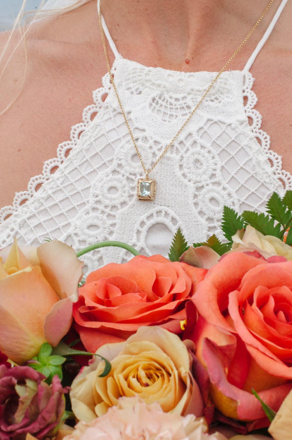 Bride Bridal Necklace Rock Wedding Cornwall Robin Studios