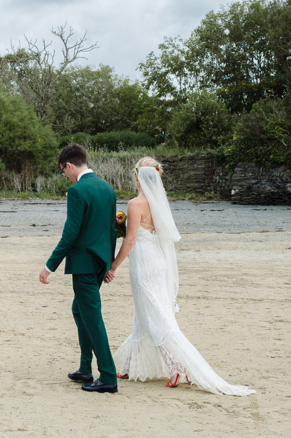 Bride Bridal Dress Gown Spell & The Gypsy Collective Crochet Strappy Rock Wedding Cornwall Robin Studios
