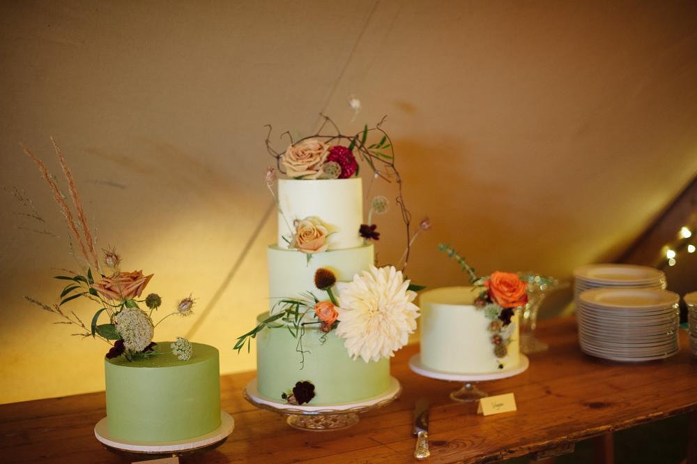 Cake Table Desserts Mint Green Rock Wedding Cornwall Robin Studios