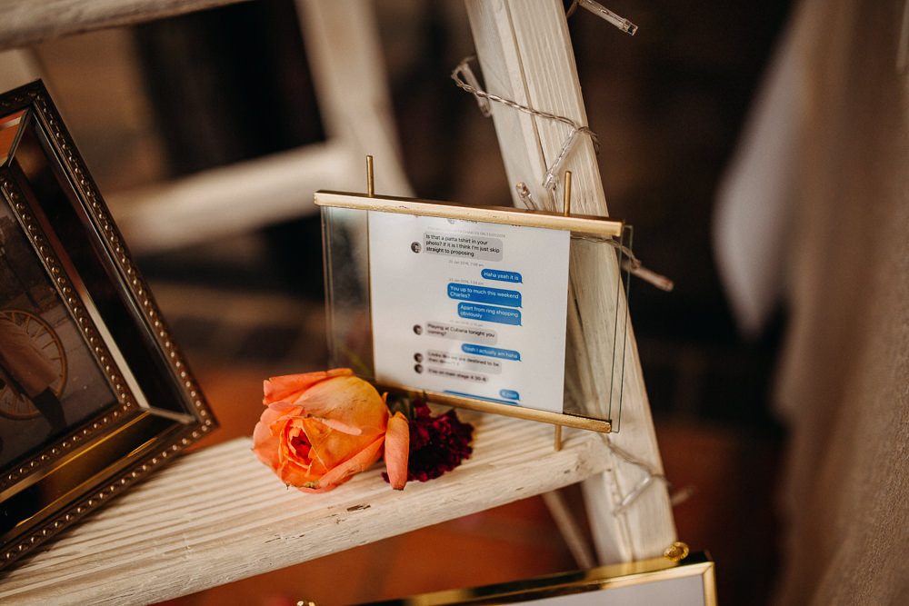 Text Message Photo Sign South Farm Wedding Miracle Moments