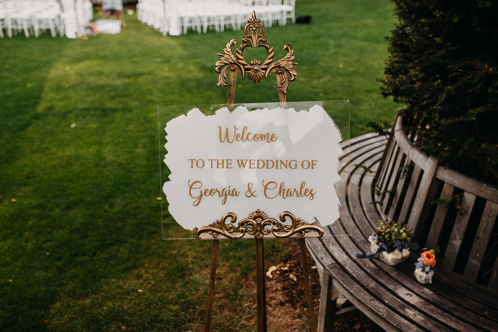 Welcome Sign Signs Signage Acrylic Perspex Glass South Farm Wedding Miracle Moments