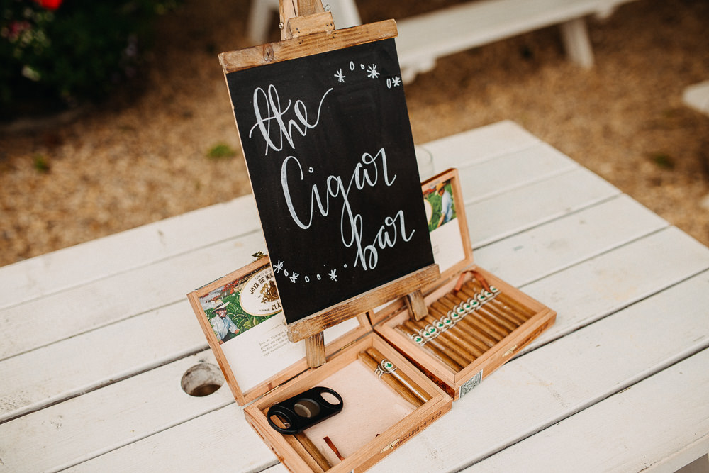 Cigar Bar Stand Station South Farm Wedding Miracle Moments