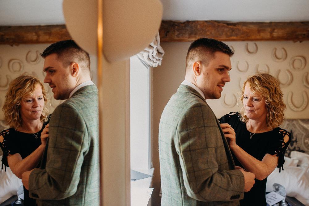 Groom Groomsmen Green Tweed Suit South Farm Wedding Miracle Moments