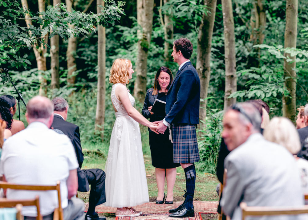 Woodland Outdoor Ceremony Forest Teybrook Orchard Wedding Hayley Jaynes Photography
