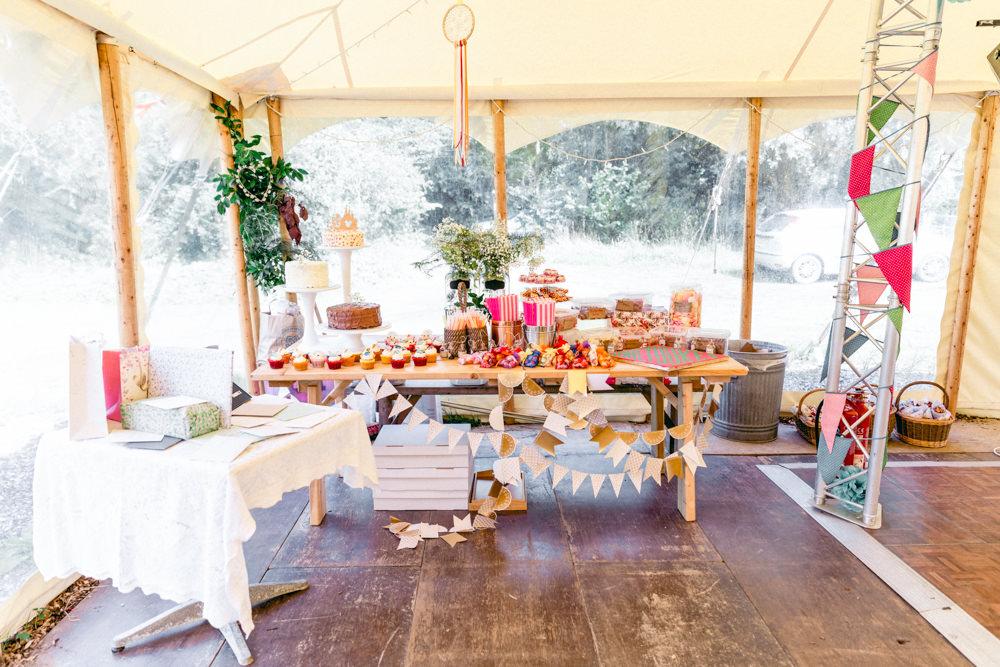 Cake Dessert Table Station Teybrook Orchard Wedding Hayley Jaynes Photography