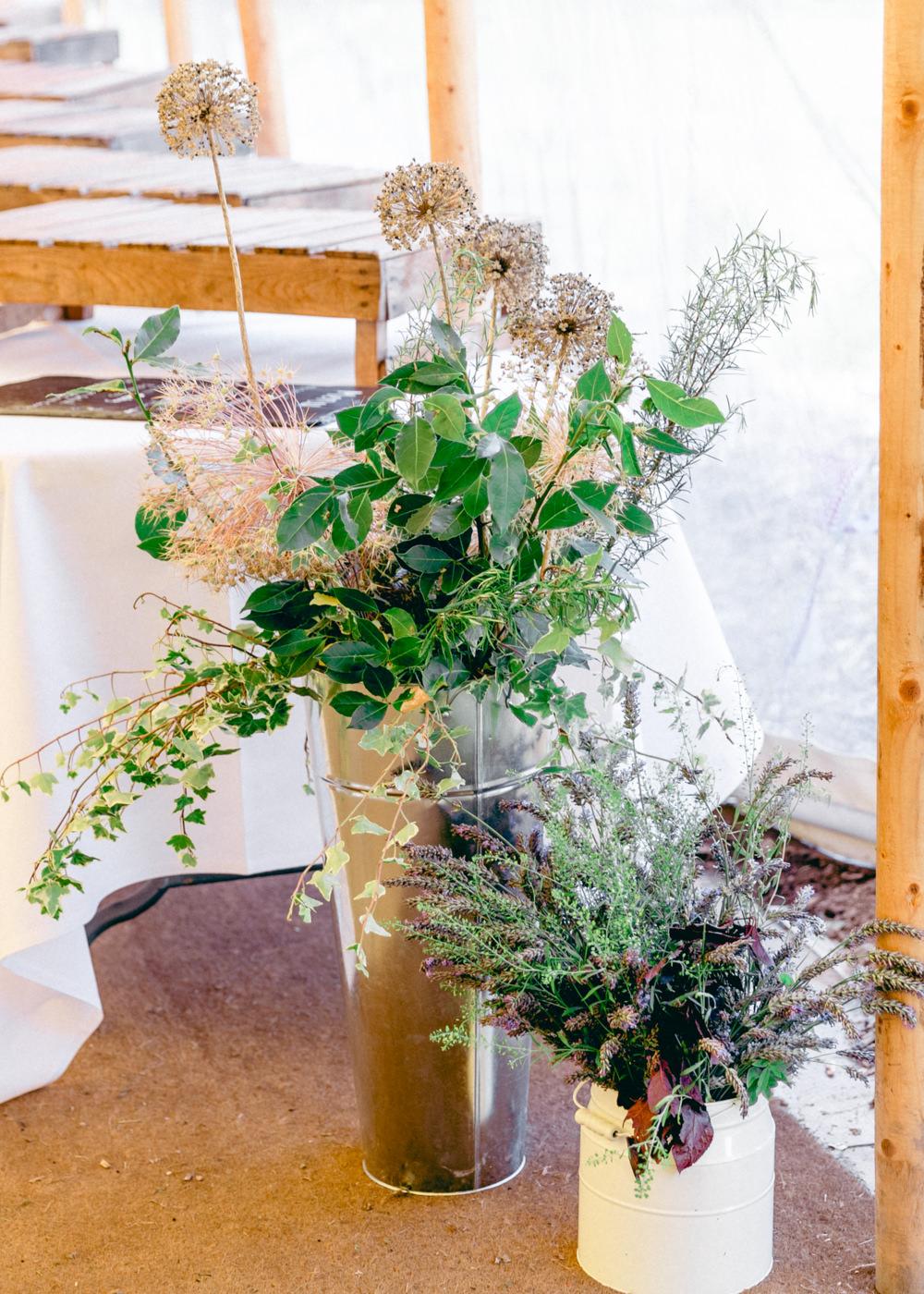 Flowers Flower Arrangements Large Teybrook Orchard Wedding Hayley Jaynes Photography