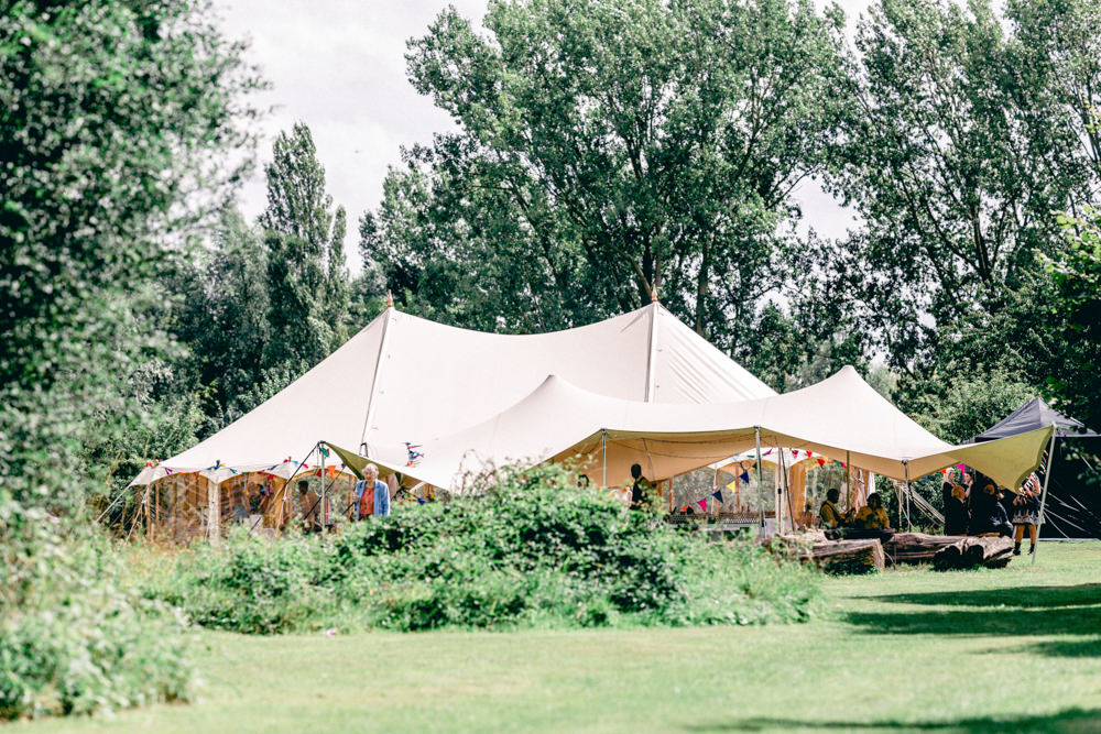 Pole Tent Marquee Teybrook Orchard Wedding Hayley Jaynes Photography