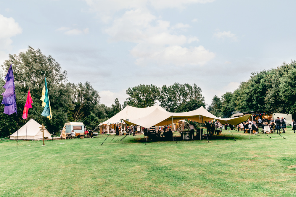Pole Tent Marquee Stretch Tent Teybrook Orchard Wedding Hayley Jaynes Photography