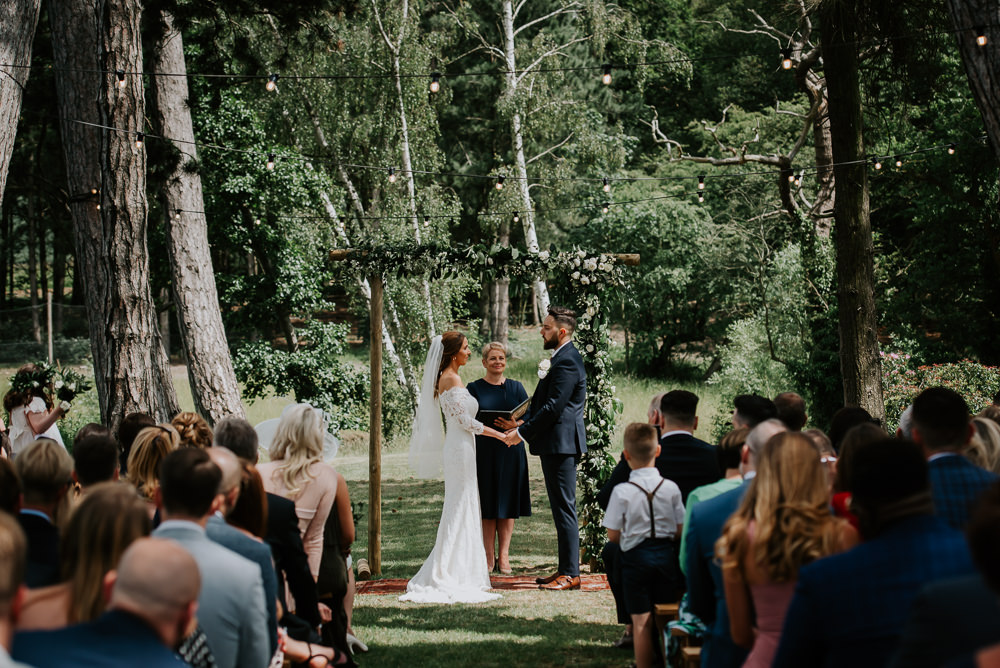 Outdoor Woodland Ceremony Tipi Hertfordshire Wedding Michelle Cordner Photography