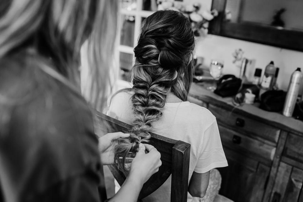 Bride Bridal Hair Style Up Do Plait Braid Tipi Hertfordshire Wedding Michelle Cordner Photography