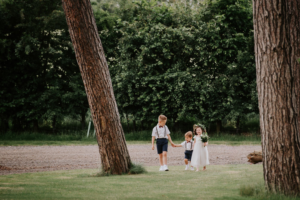 Page Boy Flower Girl Tipi Hertfordshire Wedding Michelle Cordner Photography