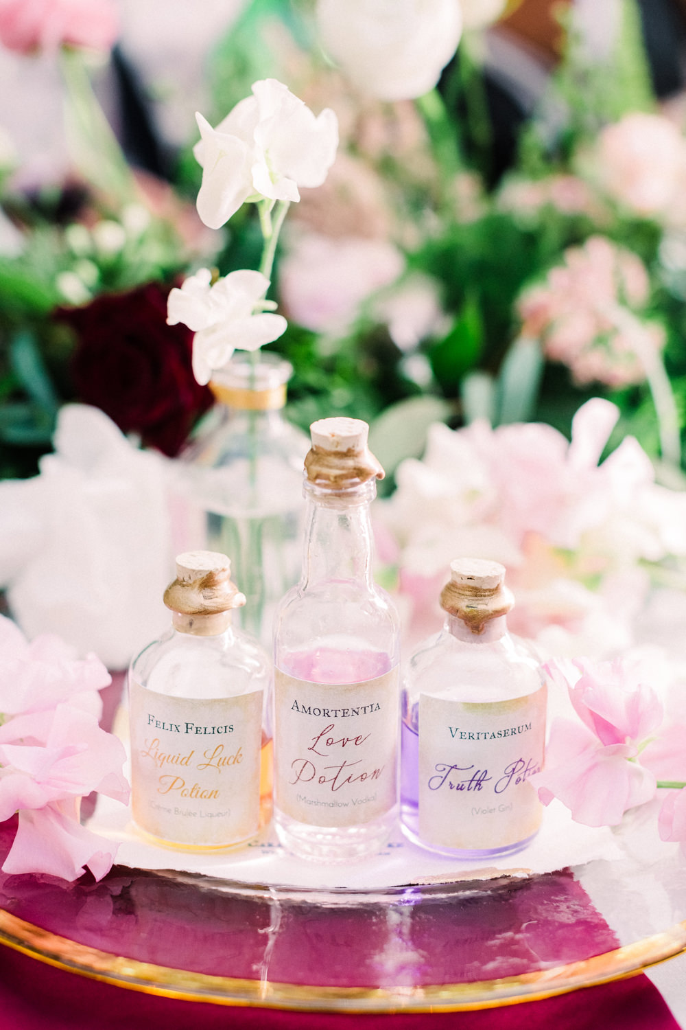 Love Potion Bottles Tortworth Court Wedding Sanshine Photography