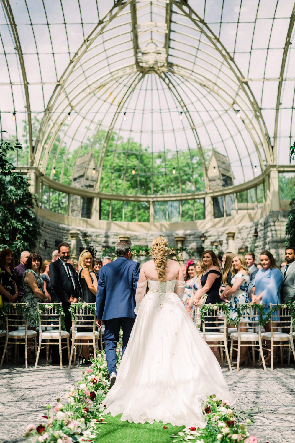 Glass House Ceremony Trees Orangery Tortworth Court Wedding Sanshine Photography