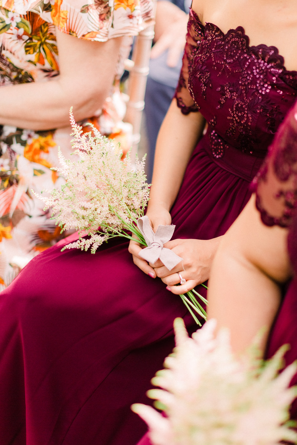 Bridesmaid Bouquet Flowers Bride Bridal Astilbe Tortworth Court Wedding Sanshine Photography