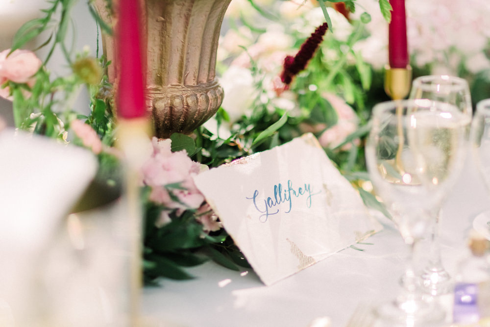Table Name Calligraphy Tortworth Court Wedding Sanshine Photography