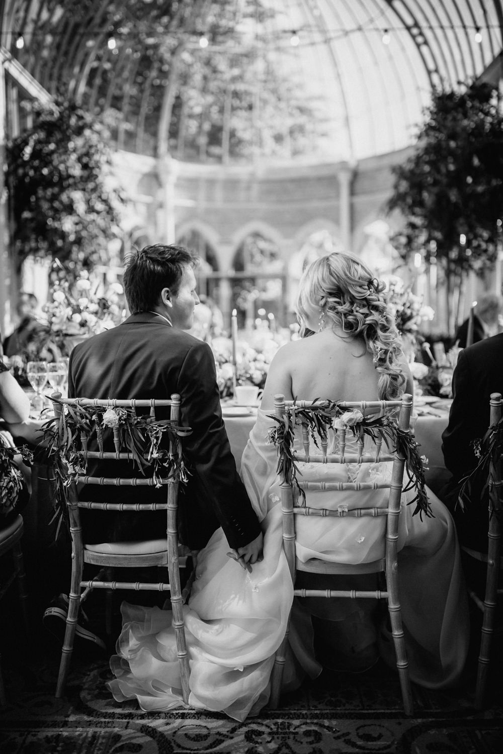 Greenery Chairs Bride Groom Decor Tortworth Court Wedding Sanshine Photography
