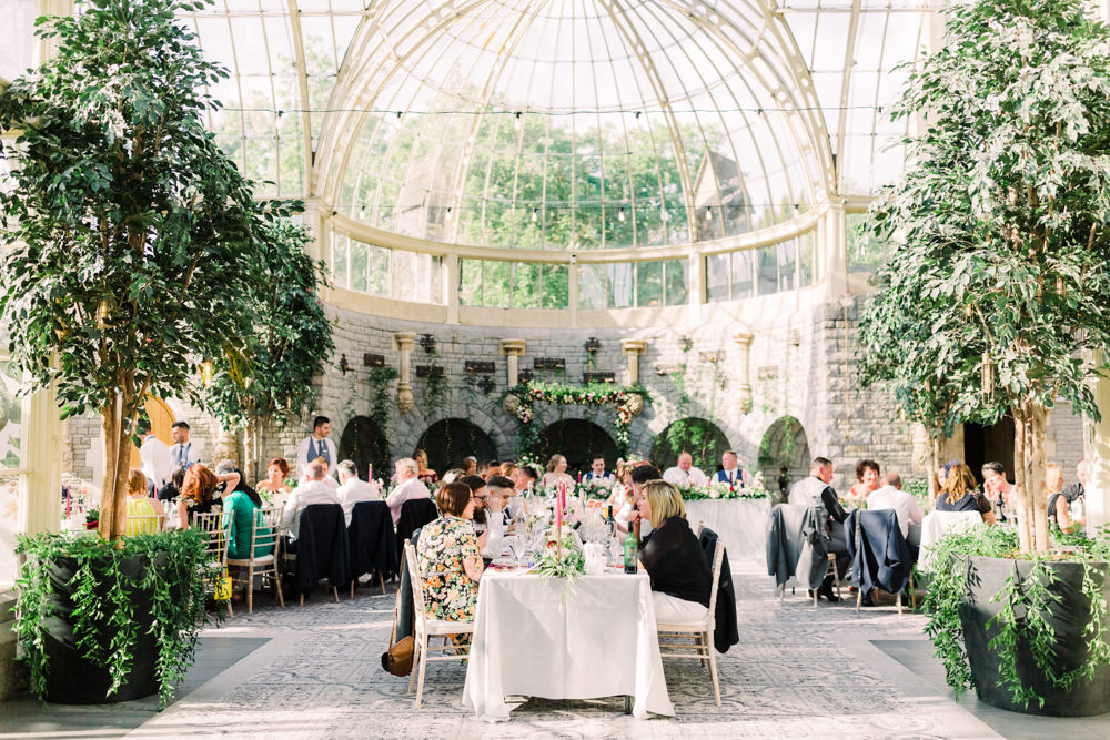 Glass House Reception Venue Trees Orangery Tortworth Court Wedding Sanshine Photography