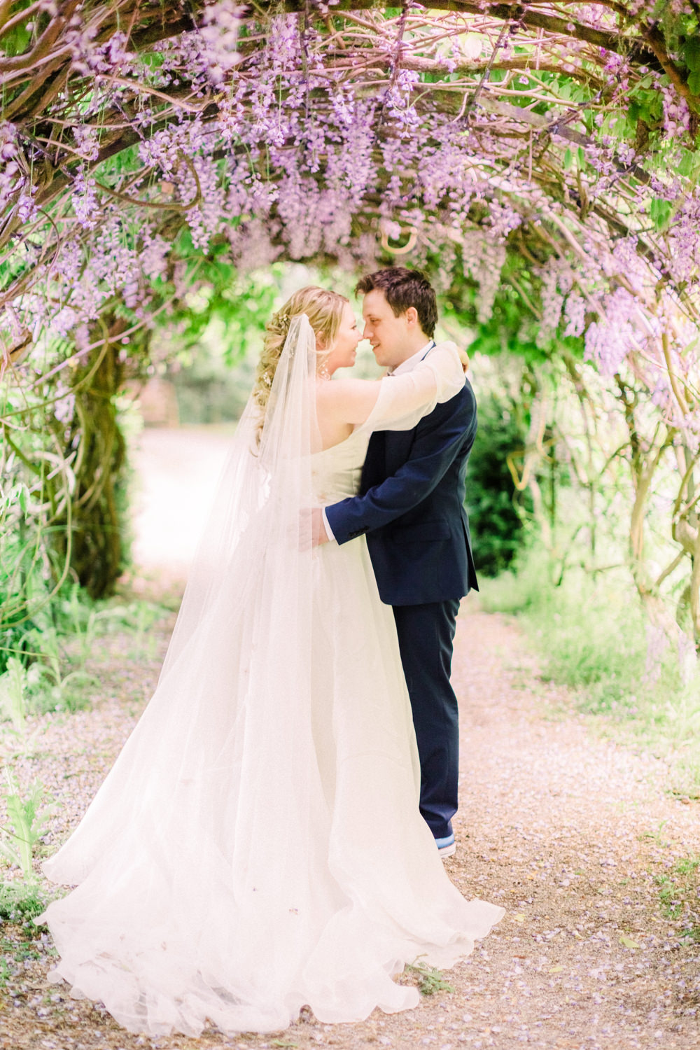 Wisteria Arch Spring Tortworth Court Wedding Sanshine Photography