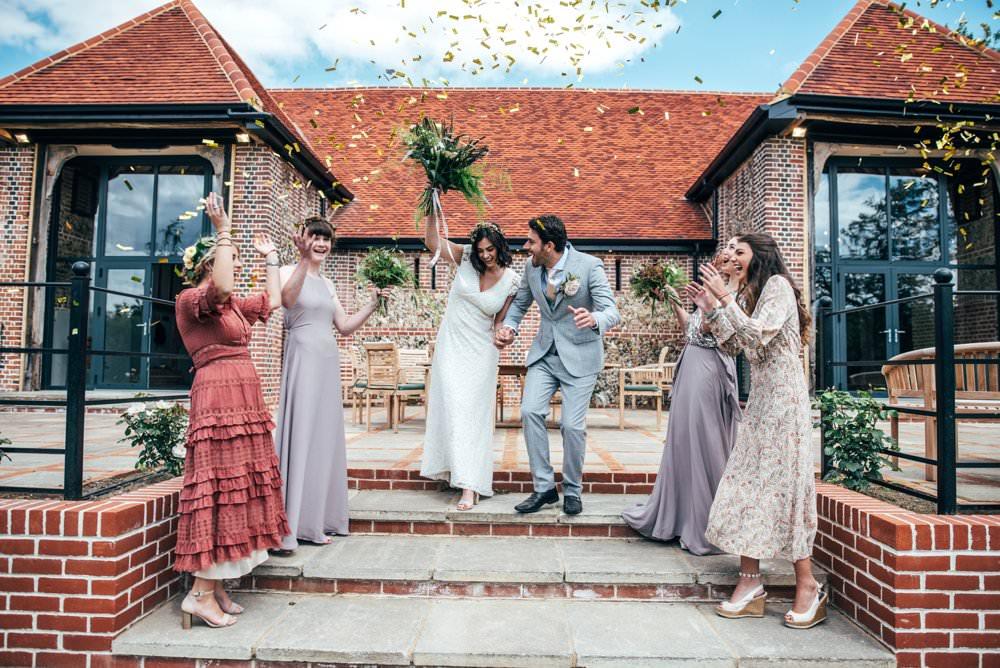 Confetti Tuffon Hall Wedding Three Flowers Photography