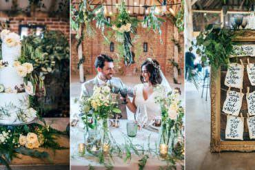 Wild Greenery & Twinkling Barn Wedding Ideas