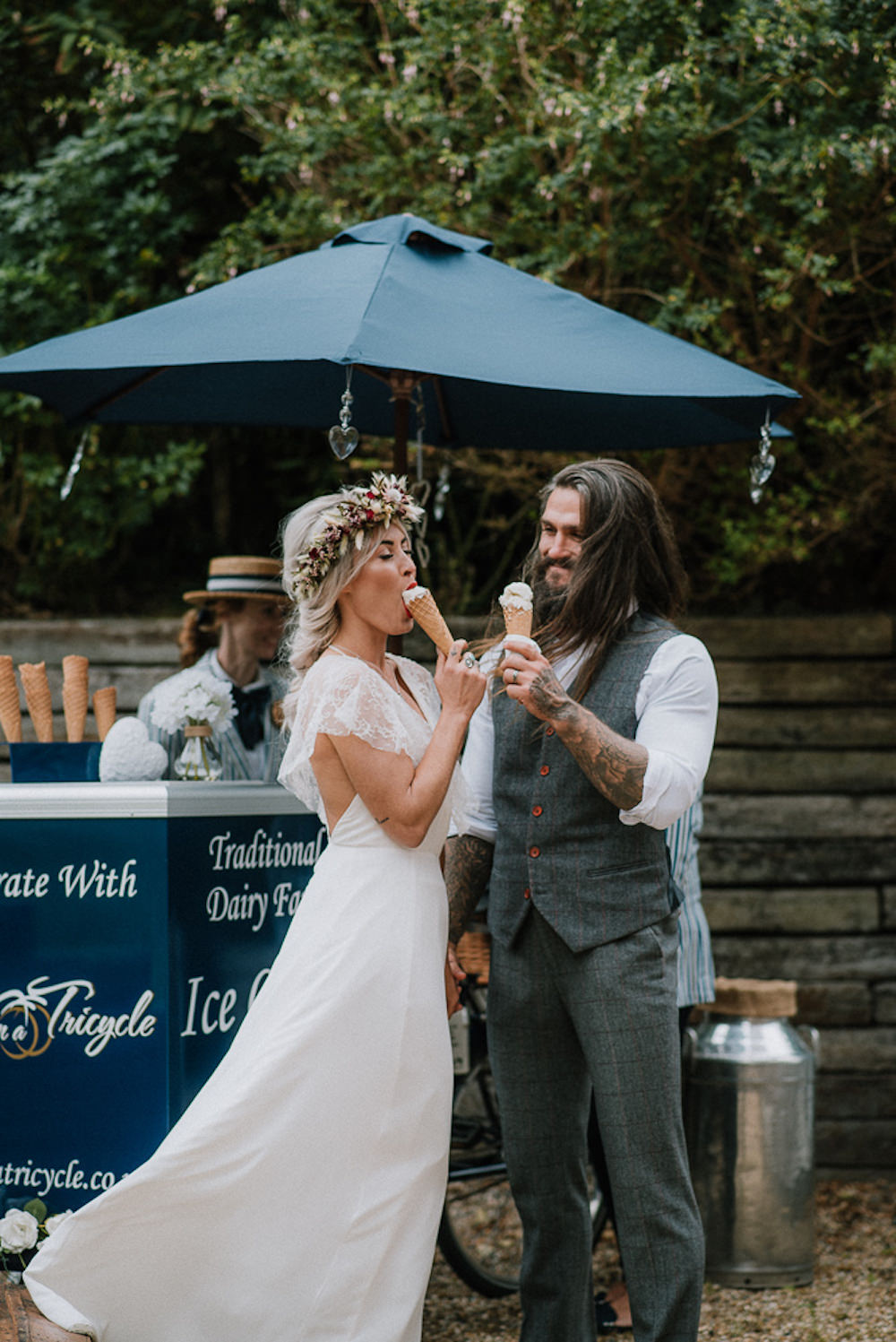 Ice Cream Trike Stand Cart Unconventional Wedding Ideas Pierra G Photography