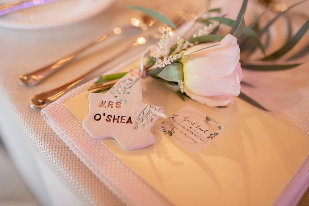 Place Card Rose Name Watercolour Wedding Kerry Ann Duffy Photography